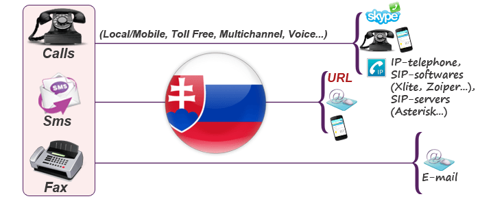 Usage of Slovakian virtual phone number