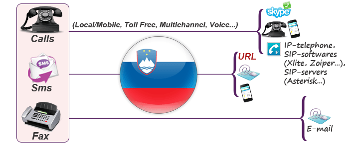 Usage of Slovenia virtual number