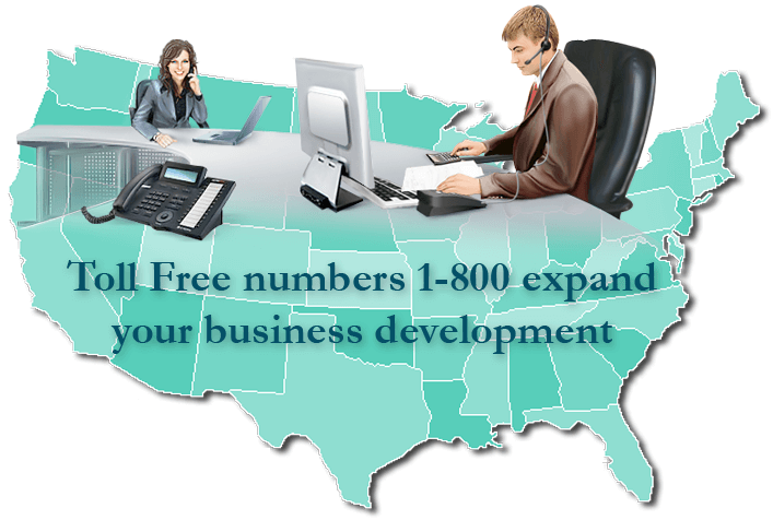 virtual 1-800 telephone number for USA