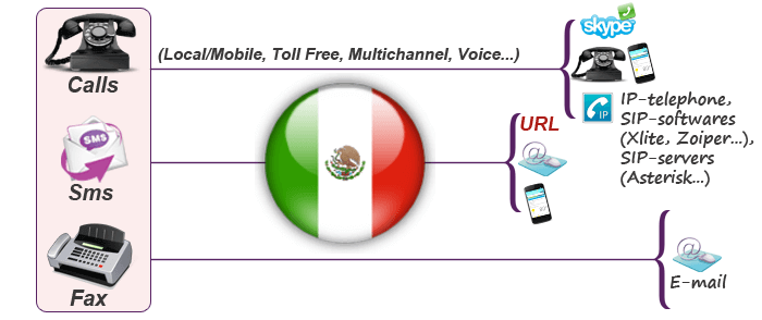 Mexican virtual numbers for calls