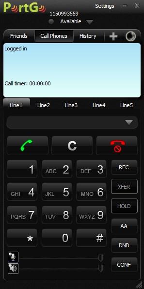 Set PortSip (PortGO) app caller for making and receiving VoIP calls