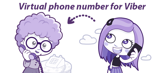 Use virtual number for Viber